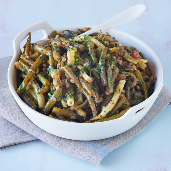 Slow-Cooked Green and Yellow Beans