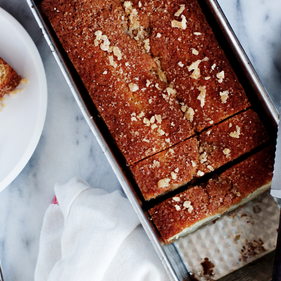 Gingerbread Pear Loaf Cake