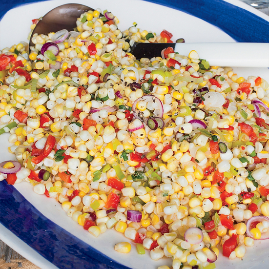 Sweet and Tangy Corn with Roasted Pepppers