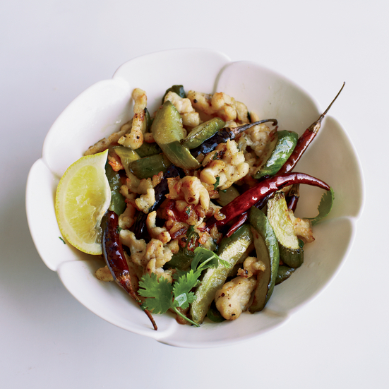 Spicy Stir-Fried Cucumbers with Shredded Chicken