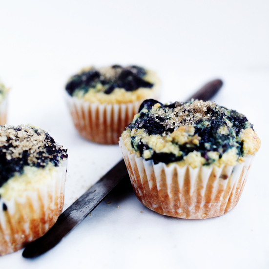Corn-Blueberry Swirl Muffins Recipe - Silvana Nardone | Food & Wine