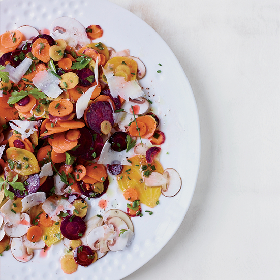 Carrot Salad with Mushrooms and Herbs