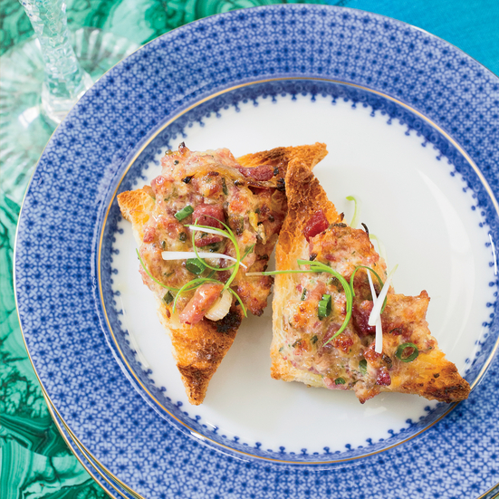 Spiced-Ham-and-Cheese Toasts