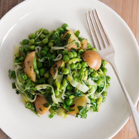Spring Peas with New Potatoes, Herbs and Watercress