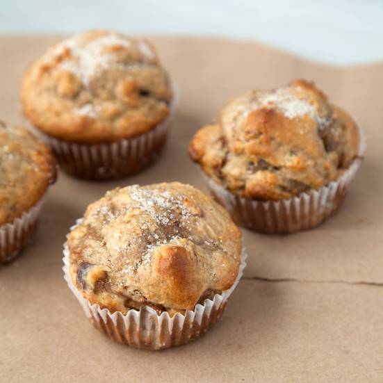 Spelt Muffins with a Marsala Fig Swirl