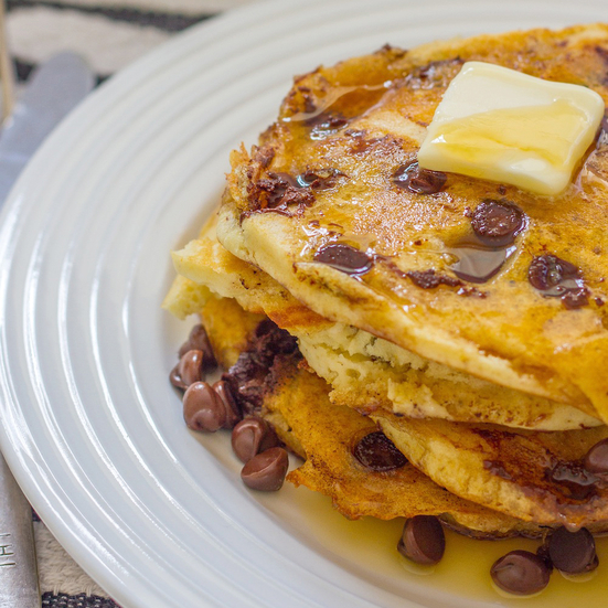 Chocolate Chip-Coconut Pancakes