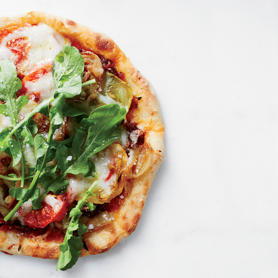 Flatbreads with Herb-Roasted Tomatoes