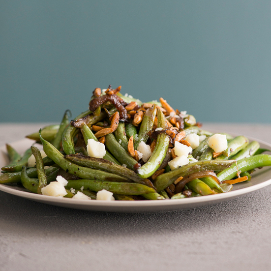 Stir-Fried Green Beans with Almonds and Manchego Cheese Recipe - Todd ...