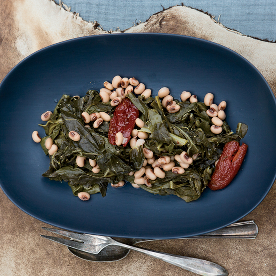 Collard Greens with Black-Eyed Peas