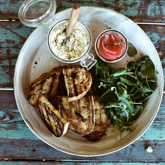 Smoked Sturgeon Spread with Grilled Bread