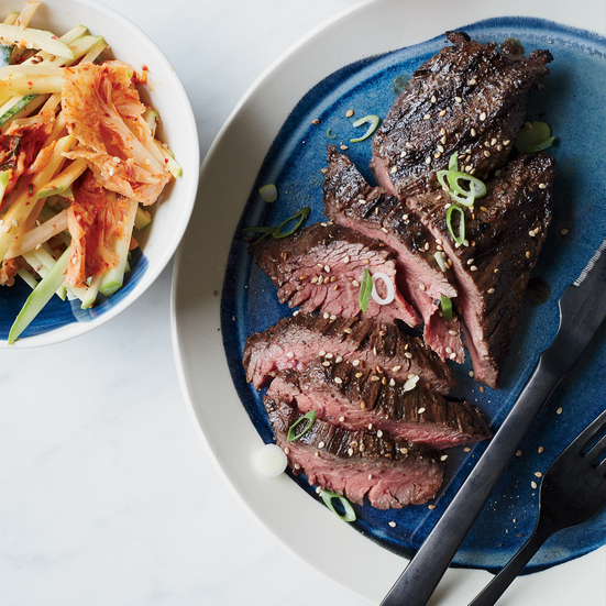 grilled hanger steak with kimchiapple slaw flank steak burrito with ...