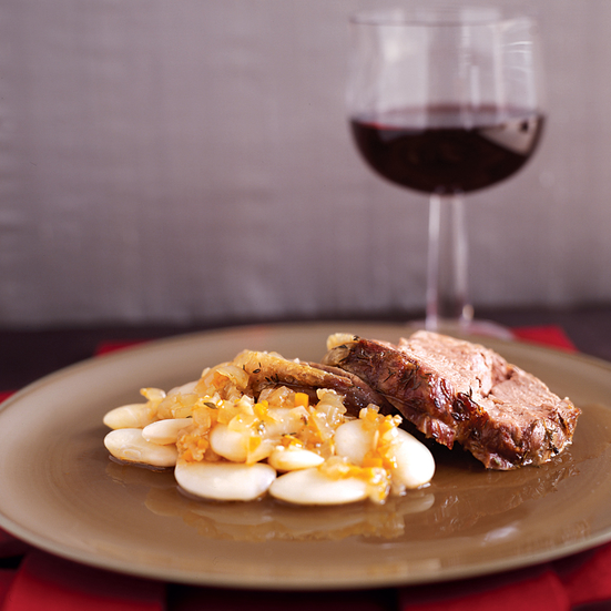 Braised Lamb with Giant White Beans