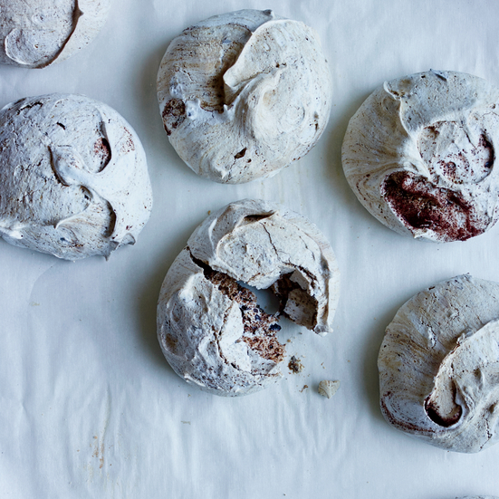 Chocolate Chip Espresso Meringues Recipe - Abigail Quinn | Food & Wine