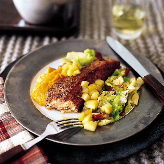 Fragrant Five-Spice Salmon with Savoy Cabbage
