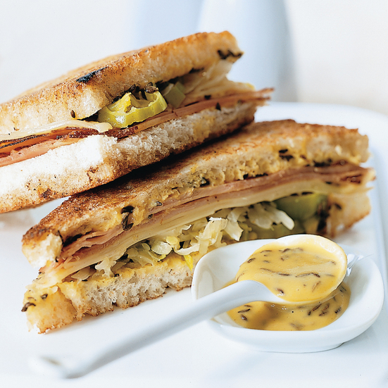 Grilled Smithfield Ham and Swiss Sandwiches