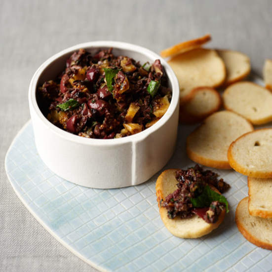 Black Olive Tapanade with Figs and Mint