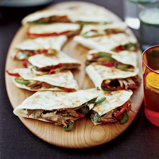 Pulled Pork and Goat Cheese Quesadillas
