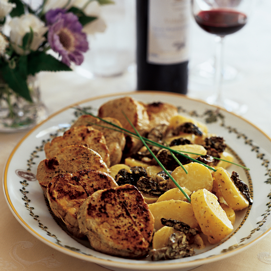 Pan-Seared Veal Medallions with French Morels