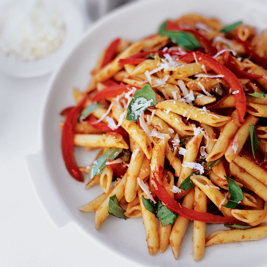 Penne with Red Pepper Sauce
