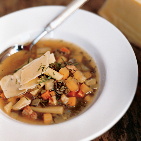 Root Vegetable Soup with Lentils and Gruyère Recipe - Paul Kahan ...