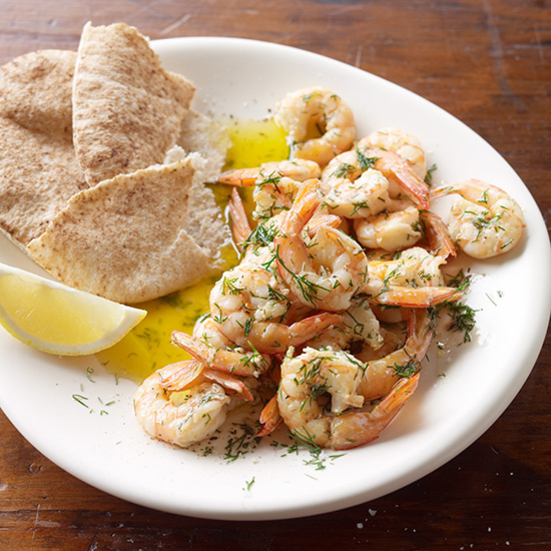 Shrimp with Lemon and Dill