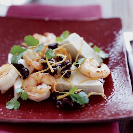 Steamed Tofu with Shrimp and Black Bean Sauce | Food & Wine Recipe