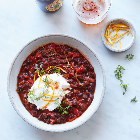 Vegetarian Black Bean Chili with Ancho and Orange Recipe ...
