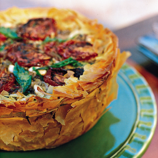 Middle Eastern Phyllo Rice Torte