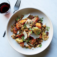 Food & Wine: Farro with Vinegar-Glazed Sweet Potato and Apples