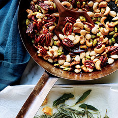 Food & Wine: Mixed Nuts with Crispy Herb and Garlic