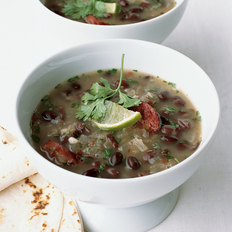 Food & Wine: Mexican Black Bean Soup with Sausage