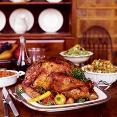 Food & Wine: Paprika-Glazed Turkey with Pumpkin Seed Bread Salad