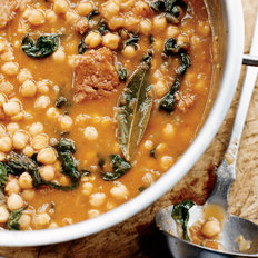 Food & Wine: Chickpea Stew with Spinach and Chorizo