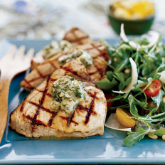 Food & Wine: Grilled Swordfish Steaks with Basil-Caper Butter