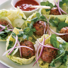 Food & Wine: Joyce's Vietnamese Chicken Meatballs in Lettuce Wraps