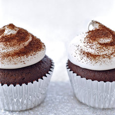 Food & Wine: Devil's Food Cupcakes with Espresso Meringue