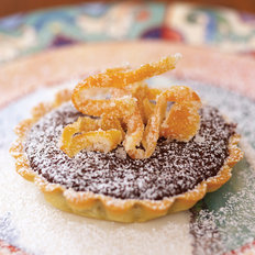 Food & Wine: Chocolate Tartlets with Candied Grapefruit Peel