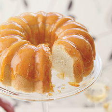 Food & Wine: Lemon Cake with Crackly Caramel Glaze and Lime-Yogurt Mousse