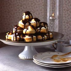 Food & Wine: Cream Puffs with Chocolate Sauce