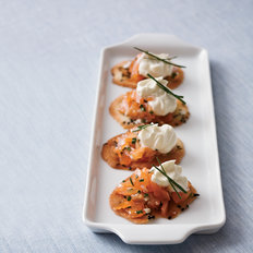 Food & Wine: Smoked Salmon Crisps