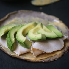 Food & Wine: Open-Face Buckwheat Crêpes with Avocado, Smoked Turkey and Dijon