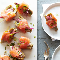 Food & Wine: Smoked Salmon Involtini with Artichoke Hearts