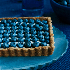 Food & Wine: Honeyed Yogurt and Blueberry Tart with Ginger Crust