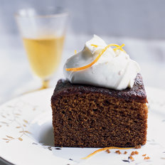 Food & Wine: Molasses-Gingerbread Cake with Mascarpone Cream