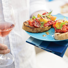 Food & Wine: Grilled Tomato Crostini