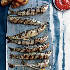 Food & Wine: Grilled Sardines with Piquillo Pepper Sauce