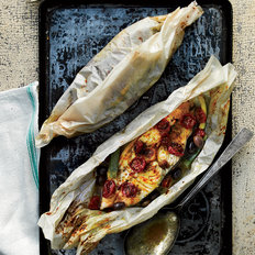 Food & Wine: Halibut and Summer Vegetables en Papillote