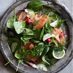 Food & Wine: Spinach and Smoked Salmon Salad with Lemon-Dill Dressing