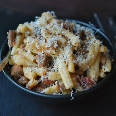 Food & Wine: Pasta with Braised Pork, Red Wine and Pancetta