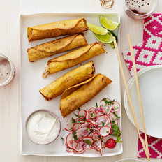 Food & Wine: Crispy Corn Tortillas with Chicken and Cheddar
